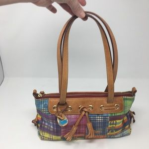 Dooney & Bourke Purse Madras Plaid Satchel